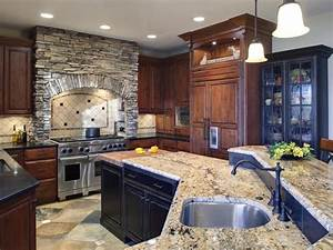 My Home Design  Old World Kitchen Design With Neutral Color
