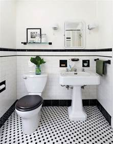 black and white bathroom ideas 31 retro black white bathroom floor tile ideas and pictures