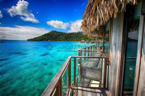tropical themed luxury bora bora nui resort polynesia