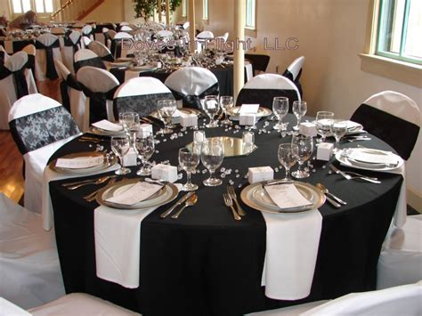 Cozy Black And White Table Decorations For Weddings, White