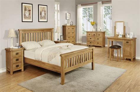 Honey Pine Bedroom Furniture  Good Quality Oak Bedroom
