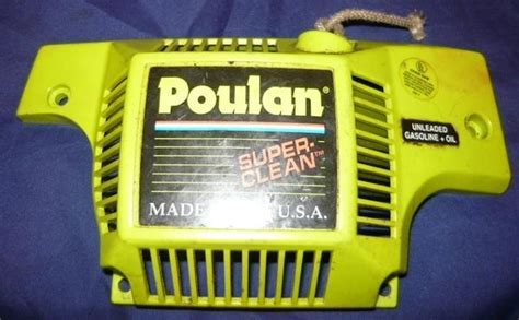 poulan 2900 super clean chainsaw starter recoil cover and
