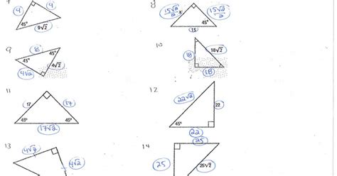 special right triangles worksheet with answers special triangles worksheet homeschooldressage