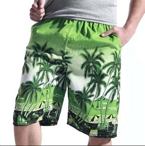 Men Board Shorts 2015 Men Clothing Plus Size Males Beach Shorts Flower Print Surf Shorts Summer ...
