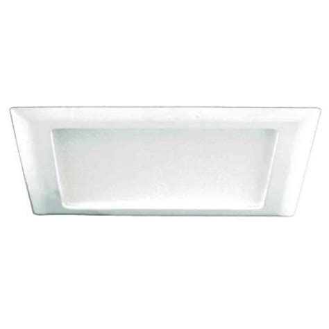 halo 9 1 2 in white recessed lighting square trim with