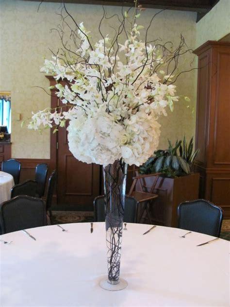 table decorations  high black vase  wedding