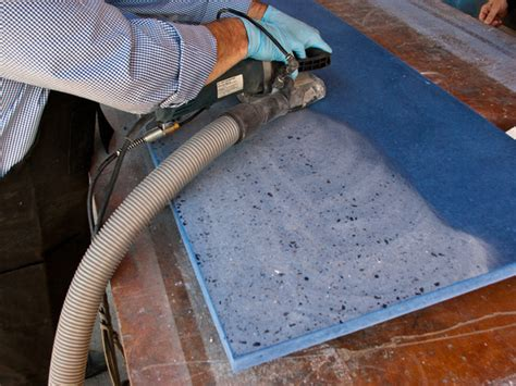 Polishing Countertops - 3 day concrete countertop concrete exchange