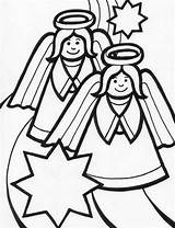 Angel Coloring Pages Christmas Sheet Angels Among Xmas Colors Holidays Activity sketch template