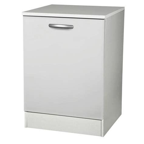 porte meuble de cuisine meuble de cuisine bas 1 porte blanc h86x l60x p60cm