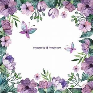 Purple flowers border Vector | Free Download