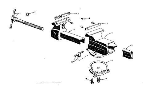 Craftsman Bench Vise Parts craftsman craftsman bench vise parts model 50651801