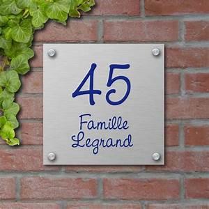 Plaque Numero Maison : plaque de maison en aluminium bross creativ 39 sign ~ Teatrodelosmanantiales.com Idées de Décoration