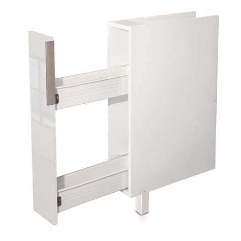 epices meuble bas de cuisine 15 cm blanc haute brillance