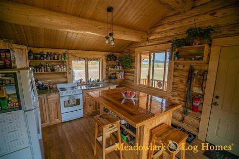 Cabin Interior Pictures by Montana Cabin 18x24 Meadowlark Log Homes