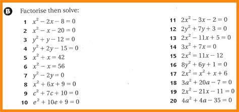Factoring Quadratic Equations Worksheet Homeschooldressagecom