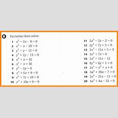 Factoring Quadratic Equations Worksheet Homeschooldressagecom
