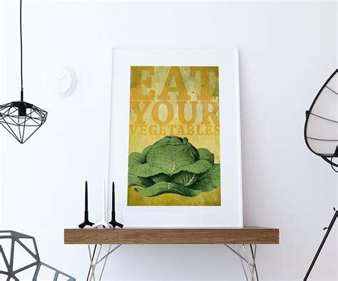 Home Decor Prints : Kitchen Print Kitchen Decor Cabbage Art Rustic Farmhouse