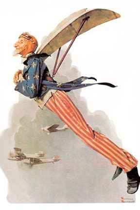 uncle sam takes wings fine art print  norman rockwell