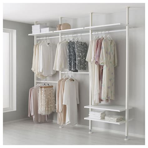 Wardrobe Clothes Storage by Ikea Elvarli 3 Sections White In 2019 Products