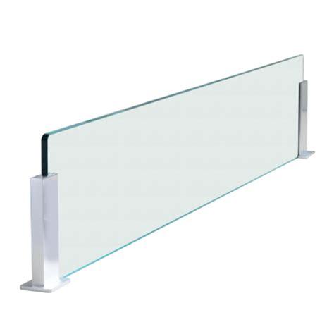 credence en verre transparent cuisine crédence en verre pour îlot de cuisine