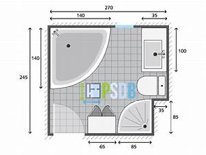 beautiful plan salle de bain 3m2 contemporary lalawgroup With plan salle de bain 3m2