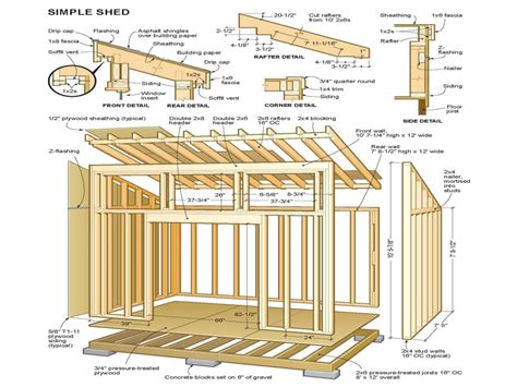 simple shed plans simple shed plans  cabin shed plans mexzhousecom