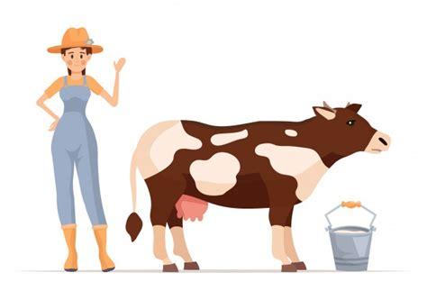 Ilustrações bonitos da vaca Vetor Grátis