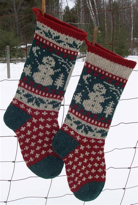 knitted christmas stocking patterns  knitting blog