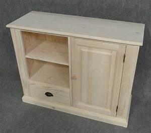 Meuble Bois Brut : meuble tv en bois brut 107x40x83cm meuble tv aubry gaspard sur ~ Teatrodelosmanantiales.com Idées de Décoration
