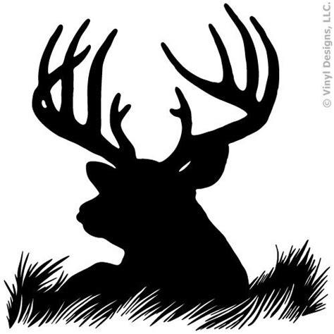 deer head silhouette buck hunting vinyl wall decal sticker art home decor mural ebay