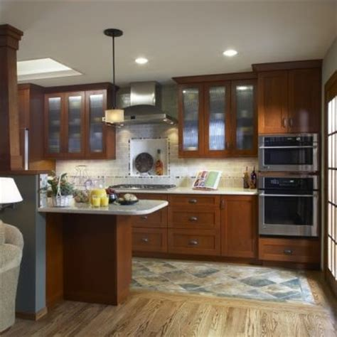 combo wood and tile flooring in kitchen for the home
