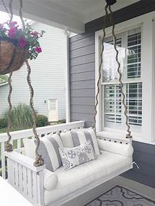 Diy Outdoors  Hang Relaxing Porch Swing In 2019