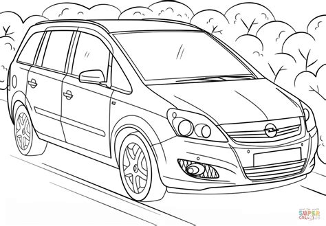 Kleurplaat Auto Opel by Opel Zafira Coloring Page Free Printable Coloring Pages