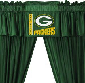 nfl green bay packers 5 piece curtains and valance set