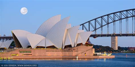 super moon  sydney opera house image fine art
