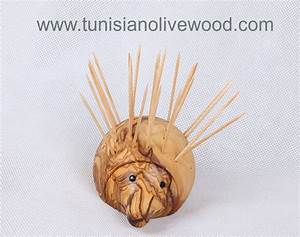 Tunisian Too Cute olivewood Hedgehog Toothpick Holder
