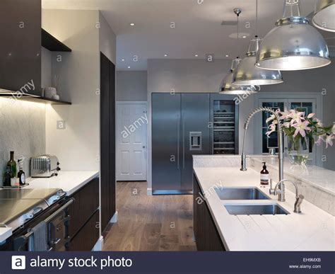 kitchen unit led lights modern kitchen with pendant lights above island unit 6359