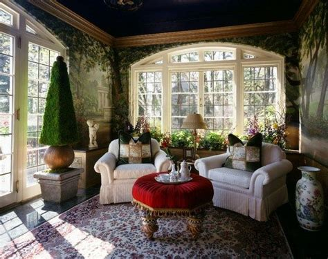 Wintergarten Einrichten Pflanzen Möbel Deko Kleiner