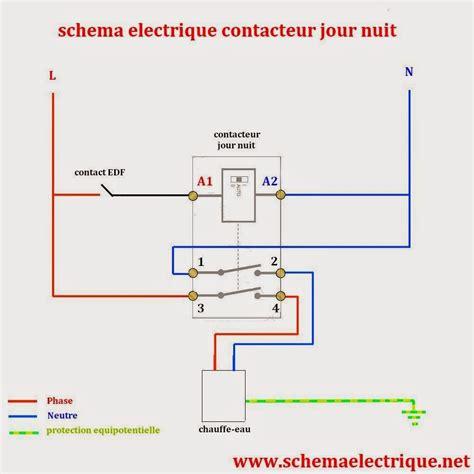 schema electrique gratuit sch 233 ma electrique contacteur jour nuit branchement d un contacteur jour nuit comment ins