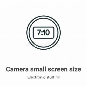 People Small In Size Phone Vector Illustration Stock