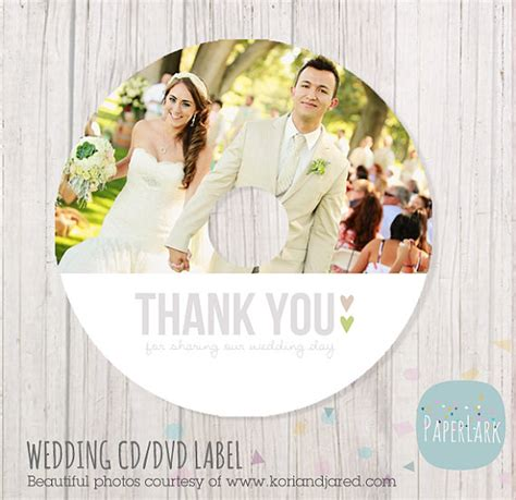 wedding cd label photoshop template ew instant