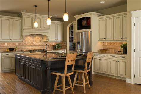 Kitchen Island Accent Color by White Kitchen With An Island In An Accent Color House