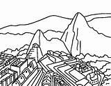 Coloring Machu Picchu Pichu Stonehenge Peru Coloringcrew Pages Printable Taj Mahal Getcolorings Again Bar Looking Case Don sketch template