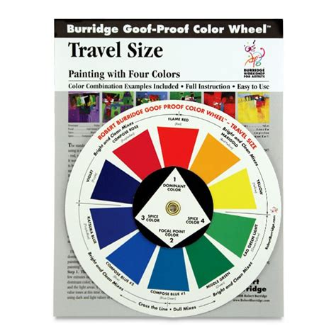 goof proof color wheel and composition chart by robert