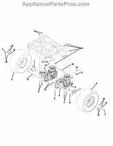 Parts For Murray 17ac2acs058    2012  Rear Drive  U0026 Wheels