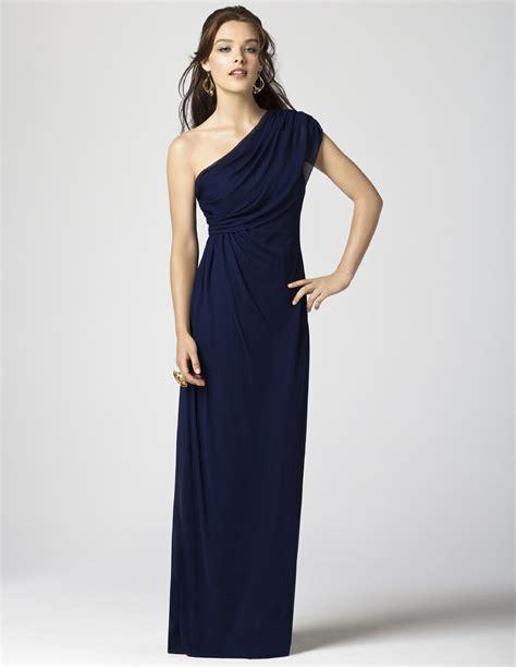 Navy blue long plus size chiffon elie saab evening dress
