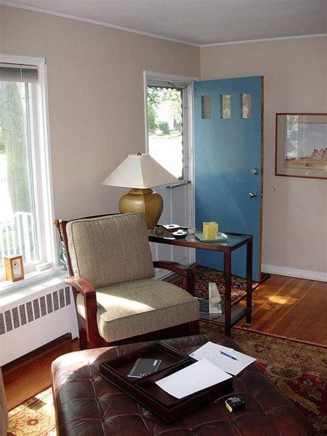 decorate  living room   front door opens