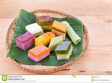 Malaysia Popular Assorted Sweet Dessert Or Known As Kuih