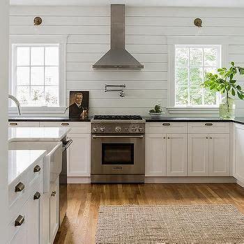 Shiplap Backsplash by Kitchen With Horizontal Shiplap Backsplash Cottage