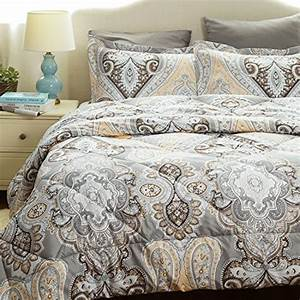 Paisley, Comforter, Set, Full, Queen, Duvet, Insert, With, Corner